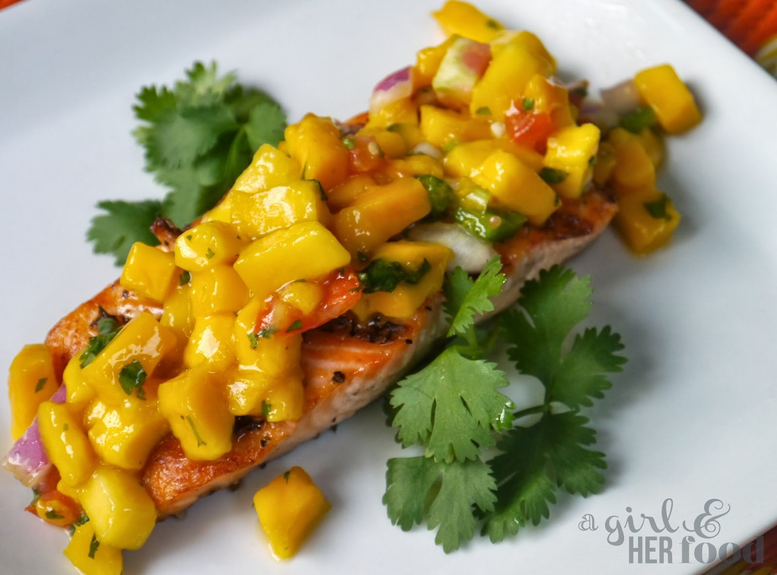Girl & Her Food: Grilled Salmon with Mango Salsa