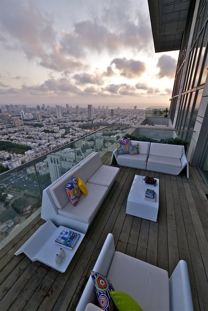 Penthouse terrace furniture