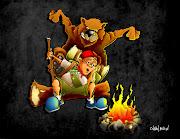 Illustration FridayPrepare · Boy Scout & Bear by Chavah Billin (prepare final background)