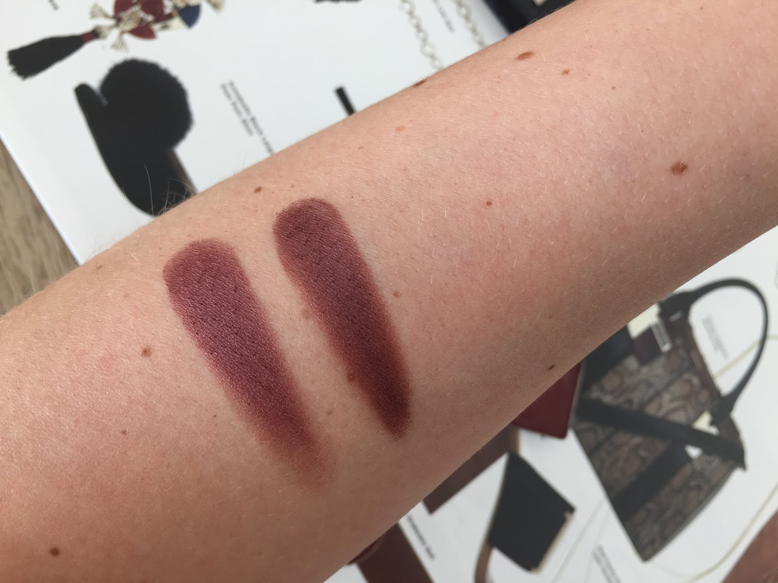 Inglot 452 & Makeup Geek Burlesque Dupe Swatches