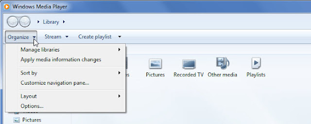 01_click_organize_windows_media_player