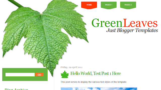 Nature Health Blogger Template