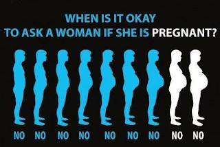 cuando preguntar a una mujer si esta embarazada