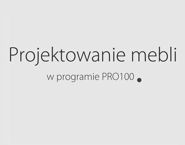 PRO100 - projektowanie mebli, część 1