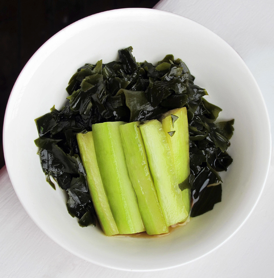 cucumber and seaweed