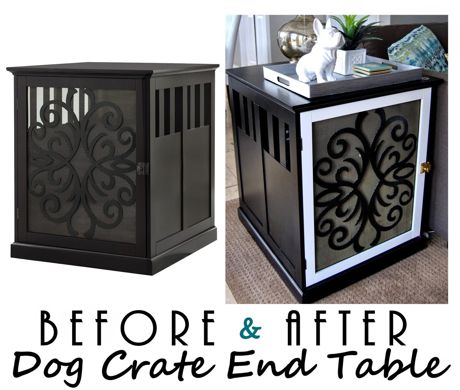dog, dog crate, dog kennel, dog crate end table, dog crate side table ...