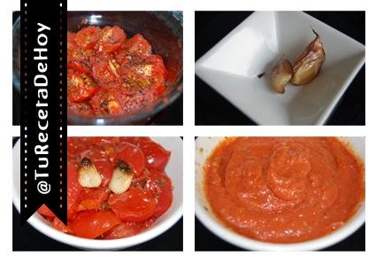 Como preparar salsa de tomates asados con ajo y albahaca
