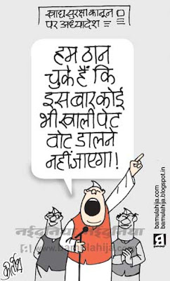food bill, poverty cartoon, election 2014 cartoons, indian political cartoon, congress cartoon