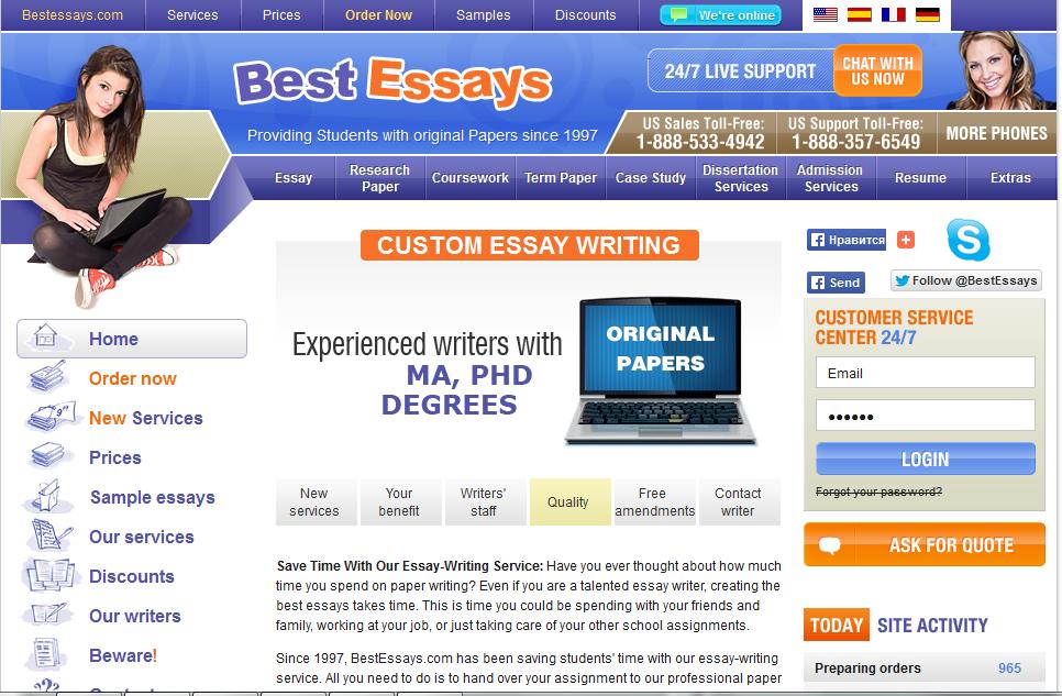 Best essay editing service