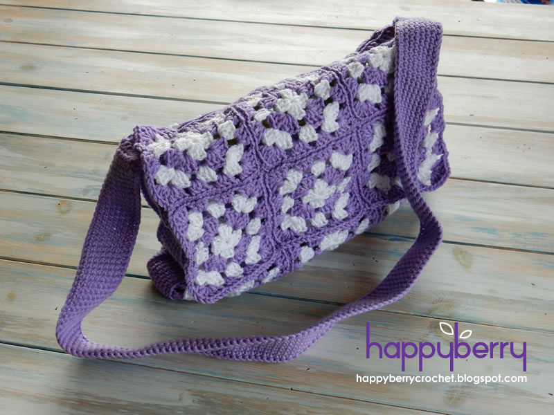 Happy Berry Crochet Simple Granny Square Bag Crochet Pattern