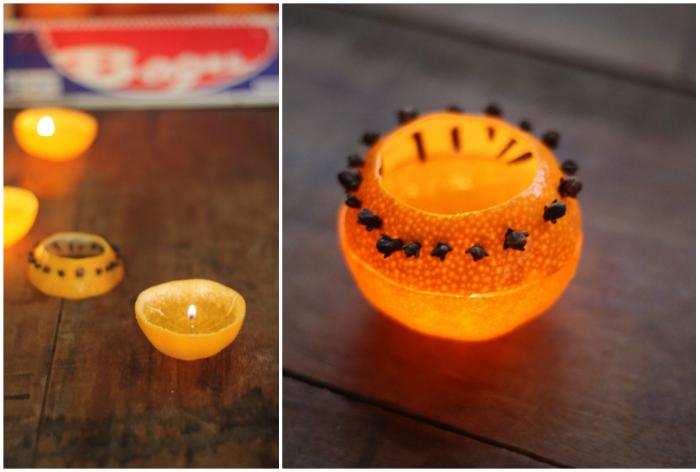 Свечи с апельсином своими руками