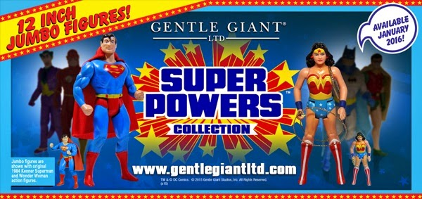"Coming Soon: Super Powers Collection 12"" Jumbo Vintage DC Comics Action Figures by Gentle Giant"