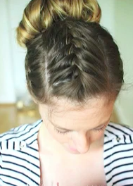 french braid updo hairstyle tutorial