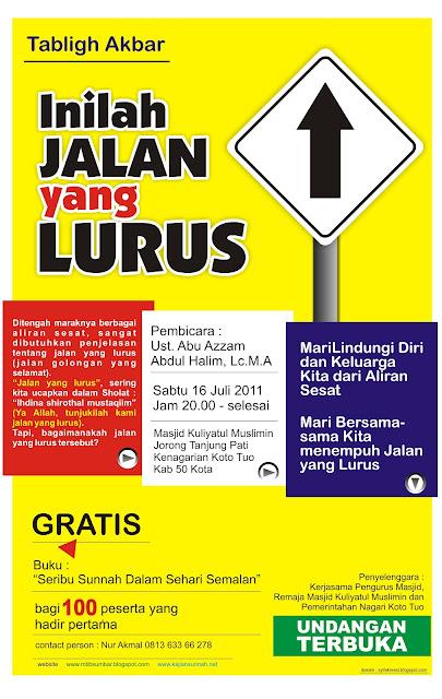 Info Tabligh Akbar Tanjung Pati Payakumbuh