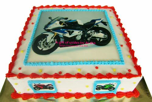 Birthday Cake Edible Image Superbike