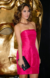 Myleene Klass Pink Short Dress at BAFTA Childrens Awards