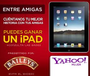 premios ipad2 concurso yahoo mujer Baileys Mexico 2011