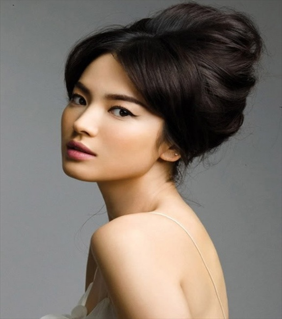 Song Hye Kyo bun hairstyle
