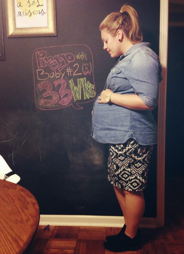 third trimester bump