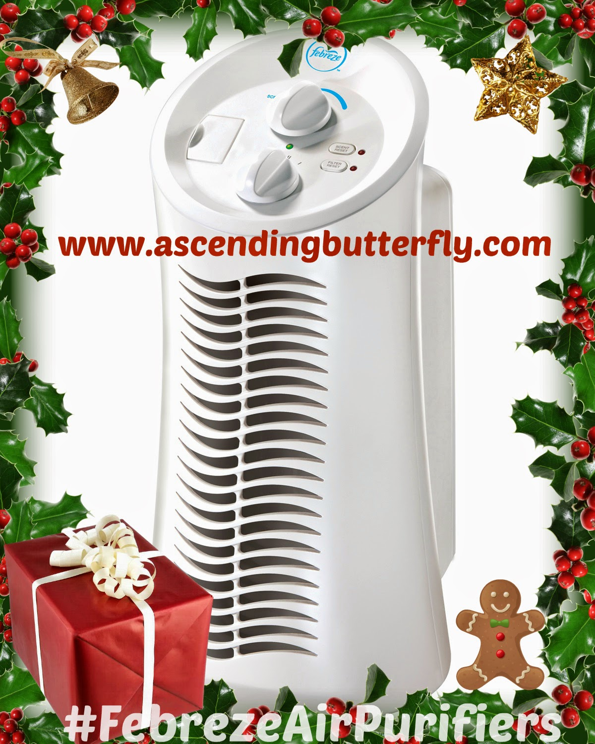 FHT180W Mini Tower HEPA-Type Air Purifier, Febreze™ Air Purifiers