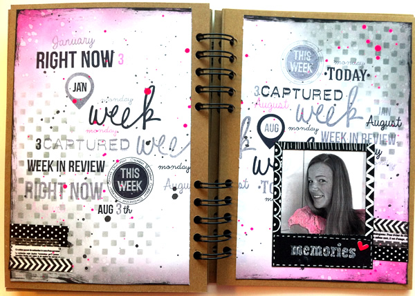 Made by sannie making a memory book i made an art journal spread to motivate myself to make a memory planner its basicly a diary but then with pictures and embellished it already worked solutioingenieria Choice Image