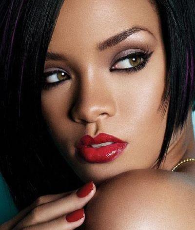 Rihanna maquilhagem pele negra