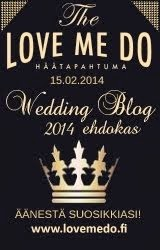 Love Me Do Wedding Blog 2014 ehdokas