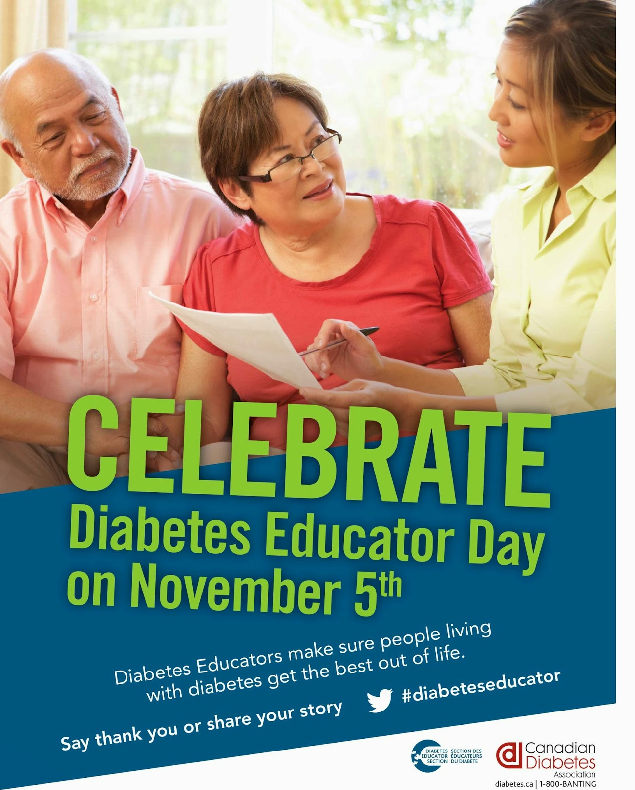 Health in a minute your health your team diabetes educator day a certified diabetes educator is a health professional committed to excellence in diabetes education who has expertise knowledge in providing guidance and 1betcityfo Image collections