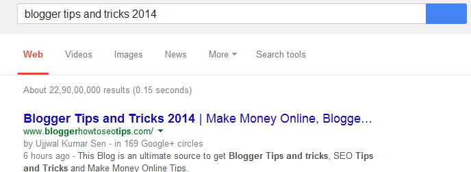 Blogger Tips and Tricks 2014