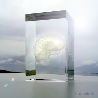 Frozen to Life cryonics glass brain