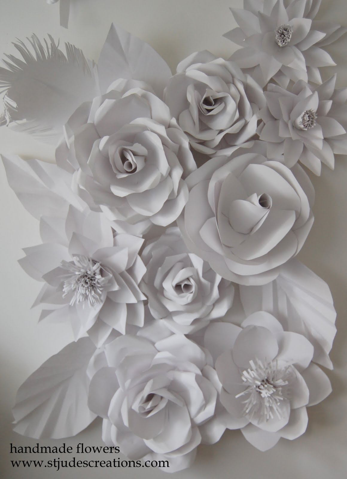 paper flower wedding wall