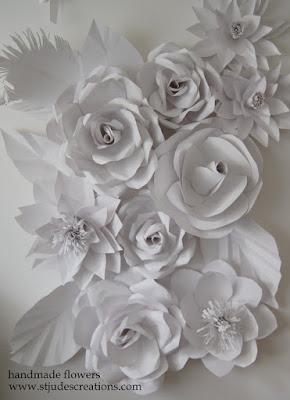 paper flower wedding wall