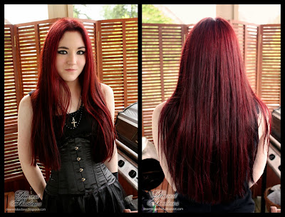 dearest shadows red hair my red dye experimentations