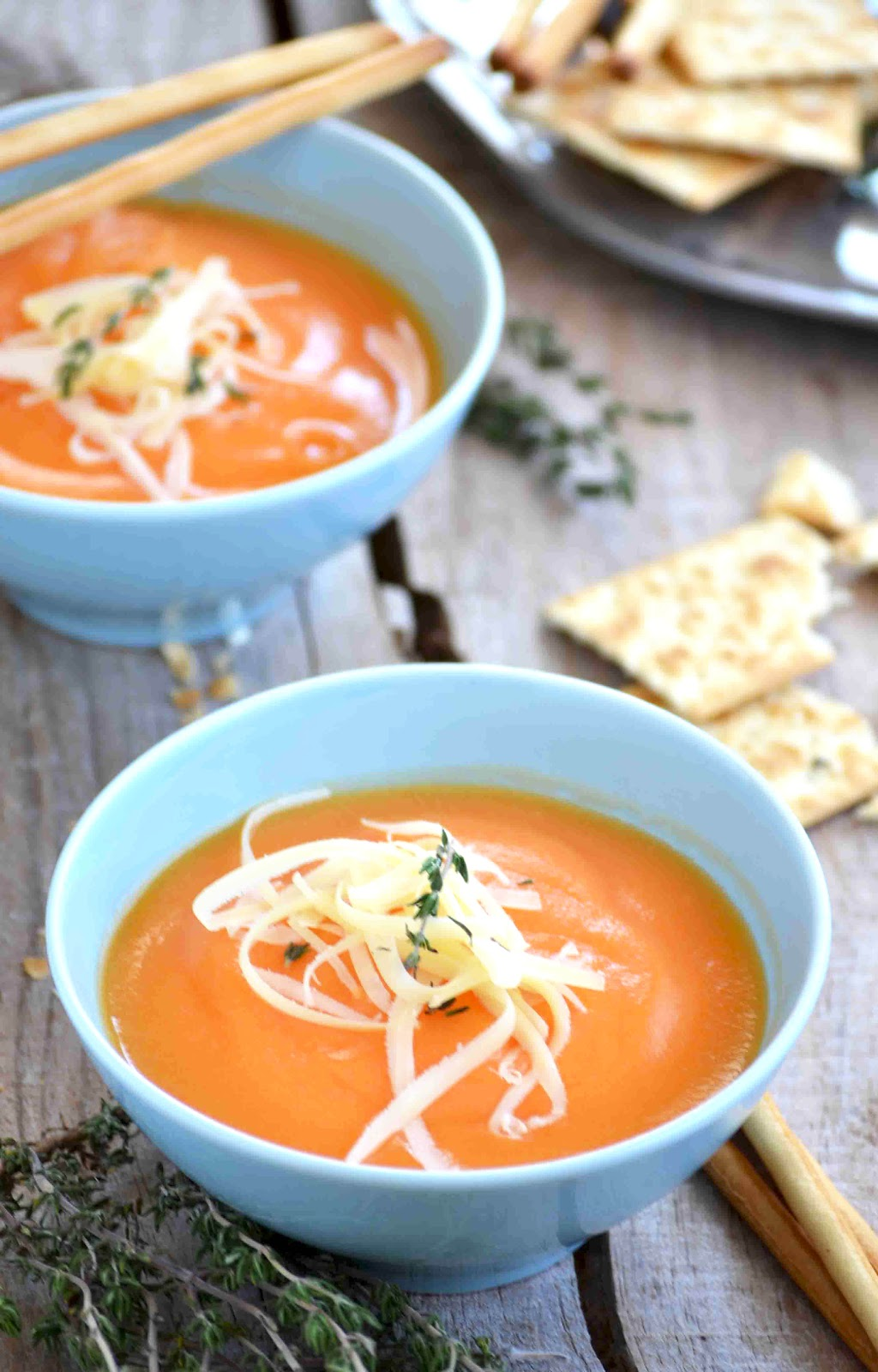 Bread & oil: My cream of carrot soup