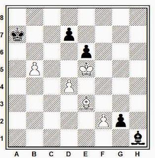 Estudio artístico de ajedrez compuesto por Carlos Lafora (Dedicado a H. Lommer, 1964)