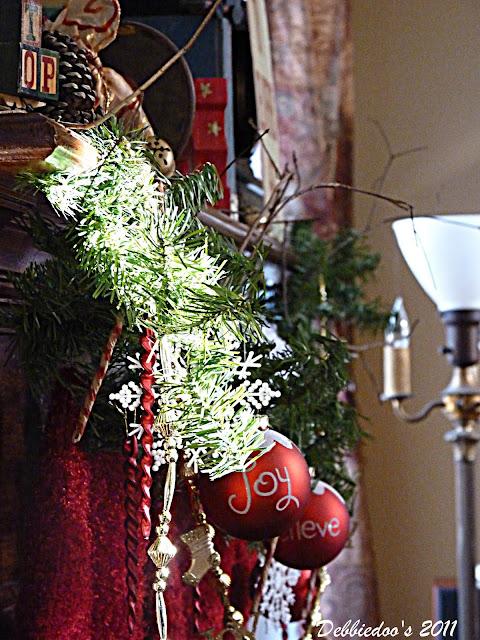 fp Christmas mantel {rustic, whimsy}