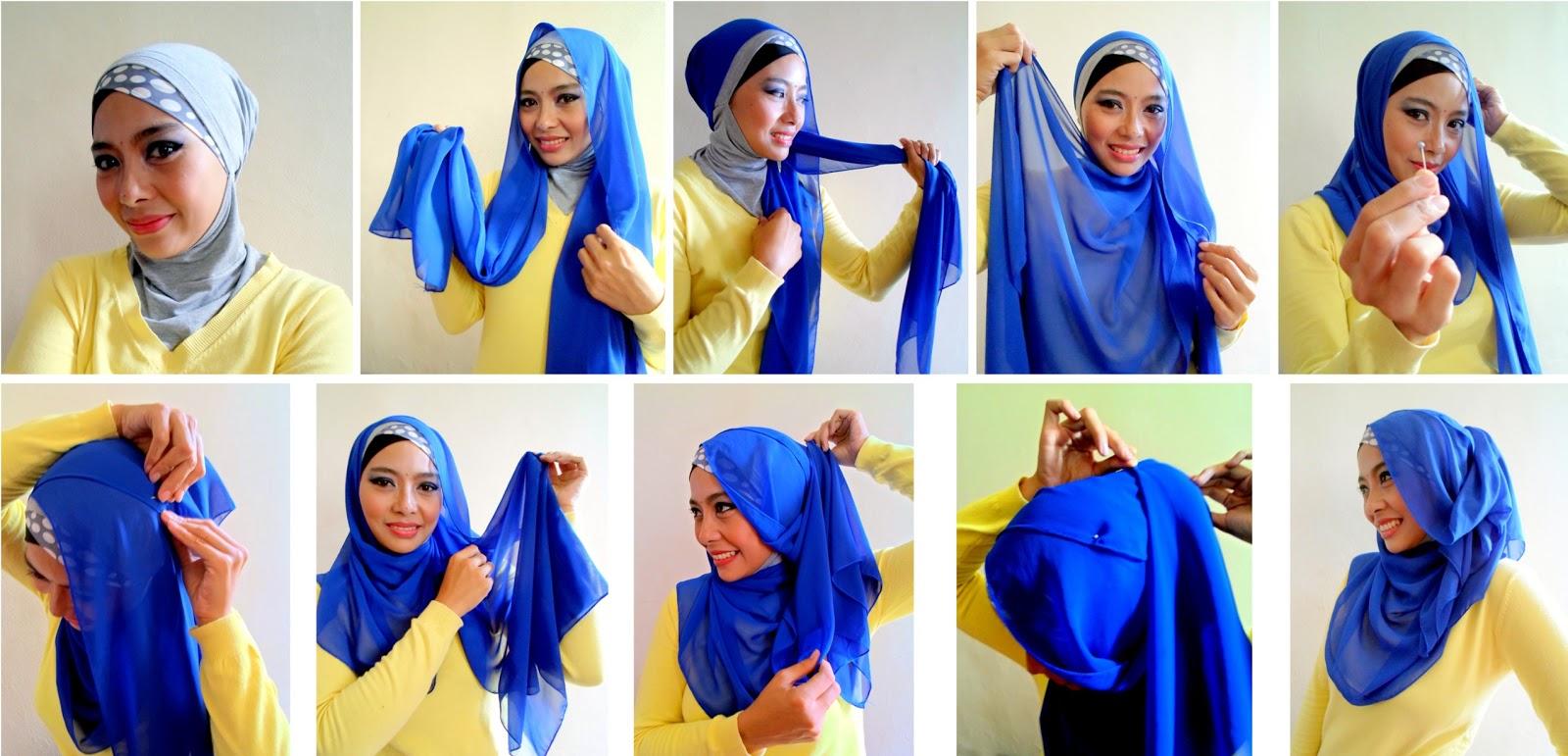 Cara Memakai Hijab Pashmina Shifon Modern Dan Cantik