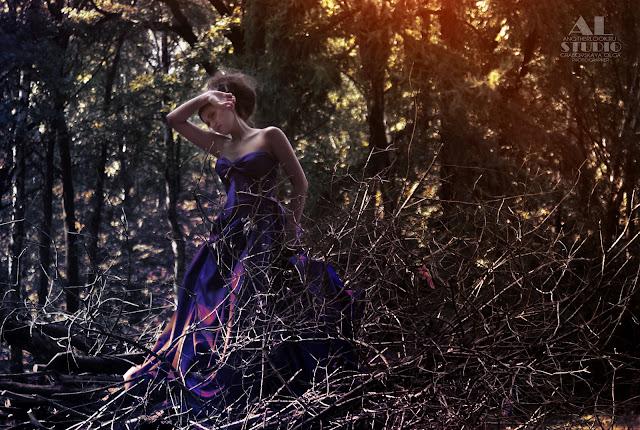 Красивая фотосессия в лесу. Лесные феи