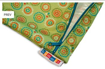 Bummis Fabulous Organic Wet Diaper Bag - zipper view