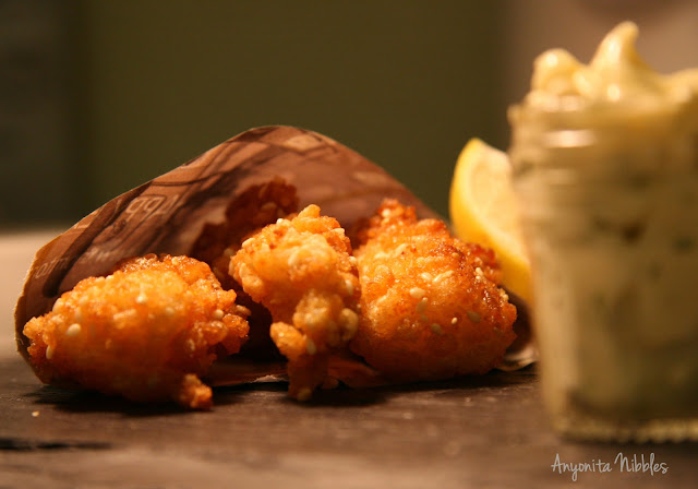 Three Rice Krispies fish fingers with tangy mayo from Great British Chefs