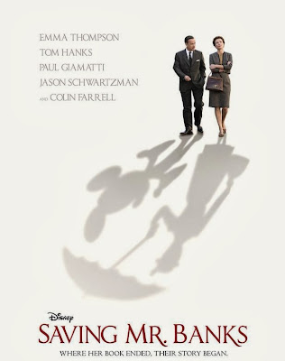 Poster Of Hollywood Film Saving Mr. Banks (2013) In 300MB Compressed Size PC Movie Free Download At Downloadingzoo.com