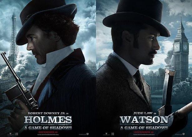 Sherlock Holmes 2: Juego de Sombras Trailer - poster Robert Downey Jr. y Jude Law: Sherlock Holmes y Watson
