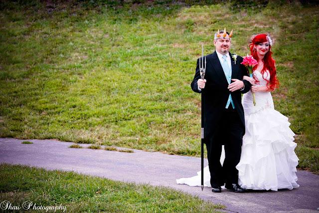 A Cosplay Under-the-Sea Disney Wedding