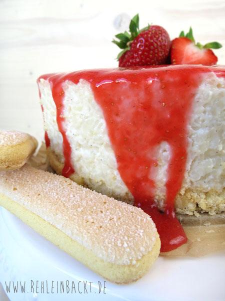 No Bake Strawberry & Cream Milchreis-Törtchen | Foodblog rehlein backt