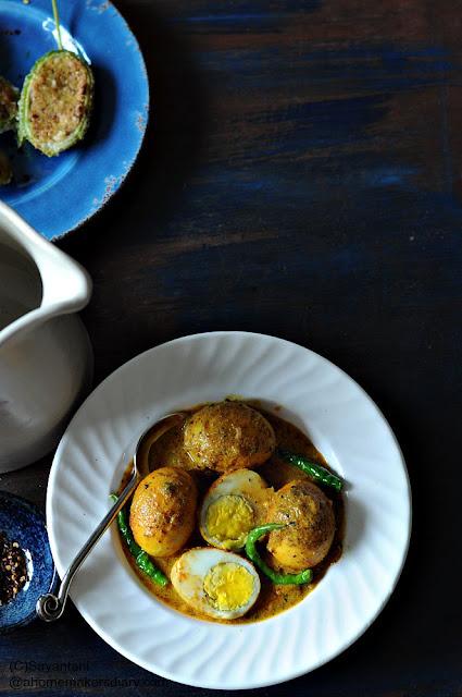 Sorshe Posto Dim (Eggs in a Mustard-Poppy seeds gravy)