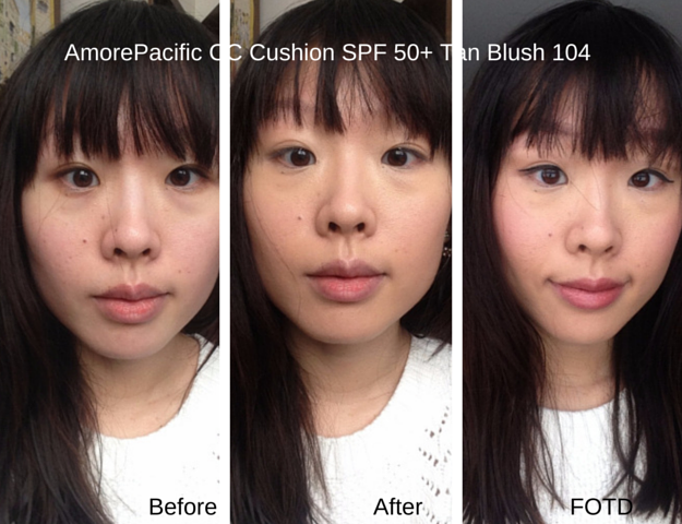 AmorePacific CC Cushion Before After Look FOTD