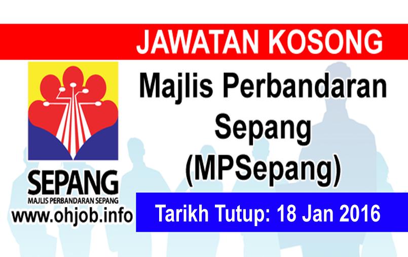 Jawatan Kerja Kosong Majlis Perbandaran Sepang (MPSepang) logo www.ohjob.info januari 2016