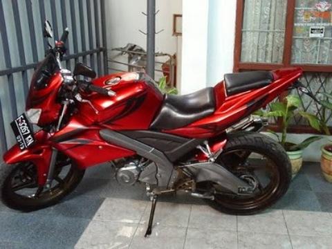 Gambar Modifikasi Motor Yamaha Vixion New Terbaru Hitam Merah Keren