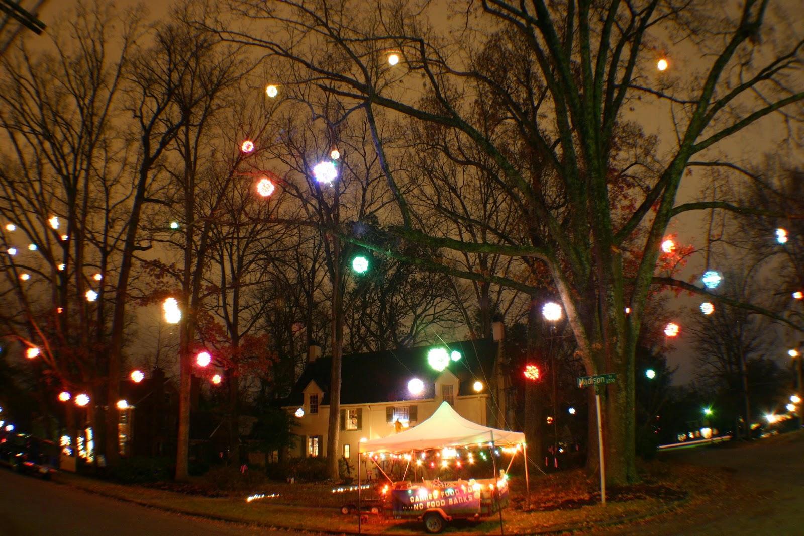 Lighted Christmas Balls: Shine the Light on Hunger Food Drive