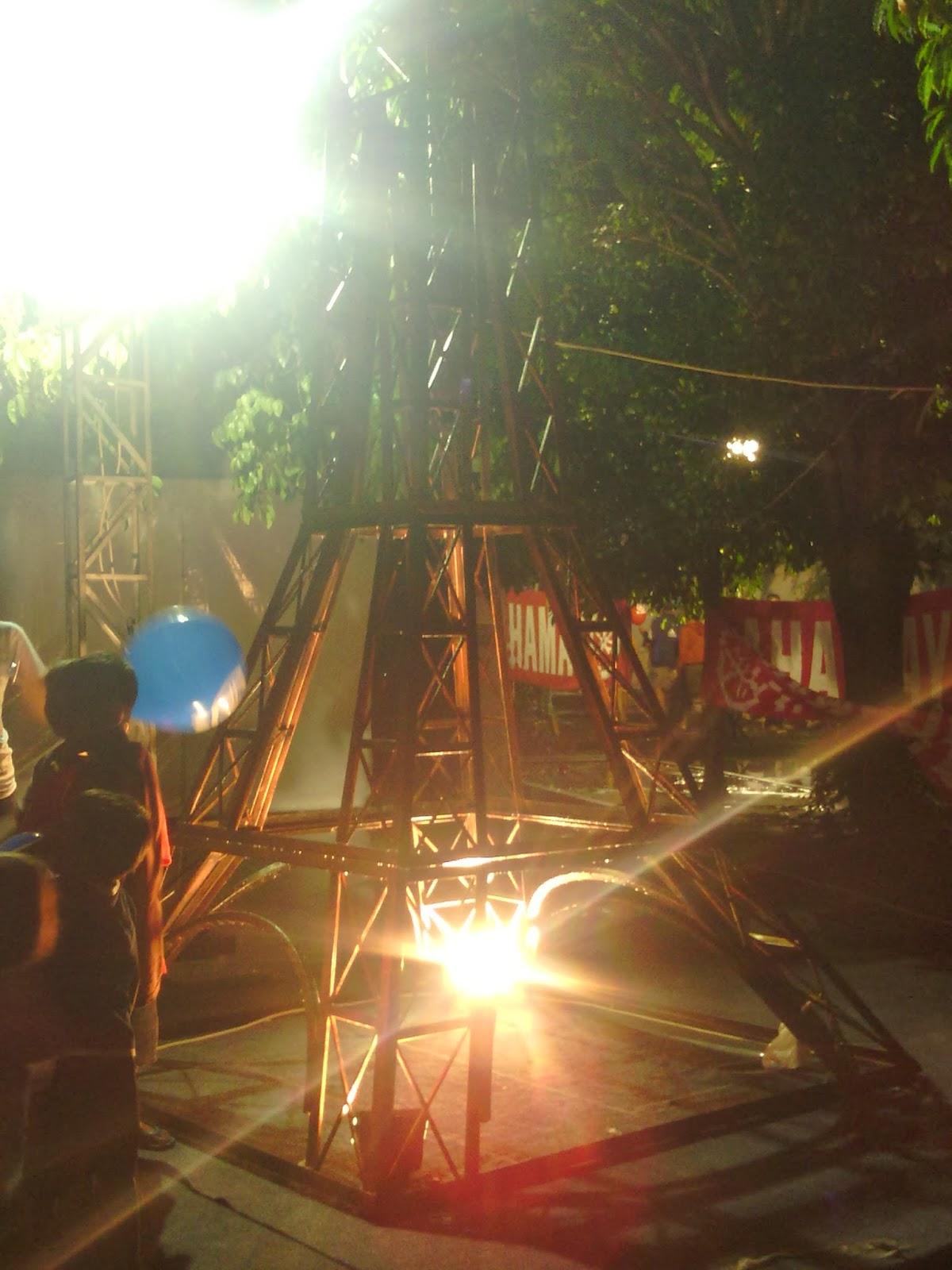 Dekorasi, panggung, set backdroop: Karnaval SCTV Road Show